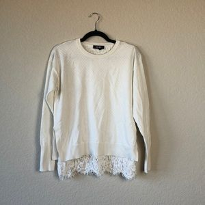 DKNY sweater with lace details